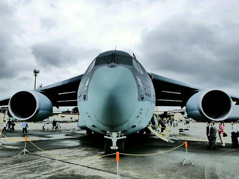 航空自衛隊 C-2 輸送機 地上展示 アメリカ空軍 横田基地日米友好祭
