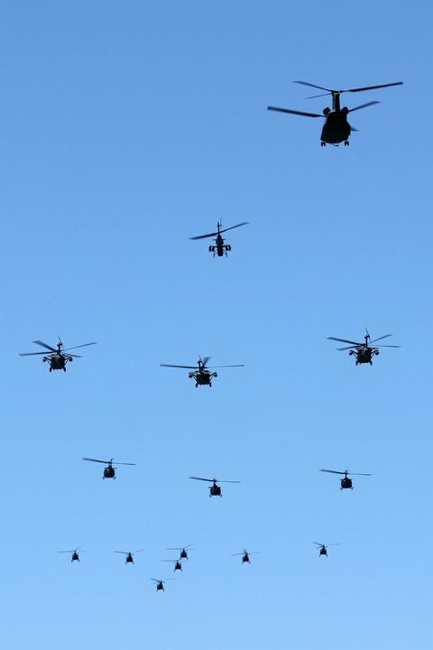 祝賀飛行 陸上自衛隊 北宇都宮駐屯地 開設46周年記念行事