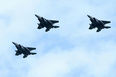 F-15 自衛隊記念日観閲式 観閲飛行 彩湖・道満グリーンパーク