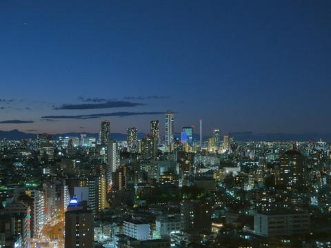 夕景 文京シビックセンター 展望ラウンジ