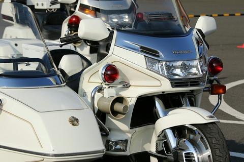 車両展示 警衛側車付白バイ 第40回警視庁白バイ安全運転競技大会