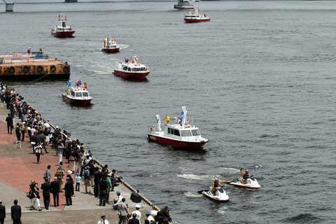 東京消防庁 消防艇 フェアウェルパレード 東京みなと祭