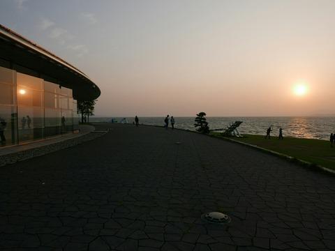 夕日 島根県立美術館 宍道湖