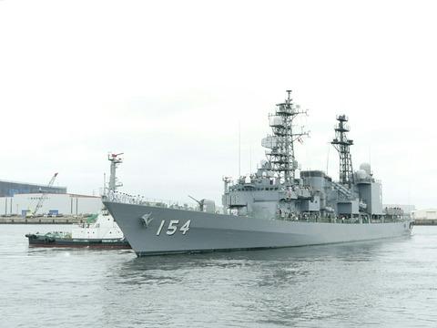 DD-154 護衛艦 あまぎり 出港 マリンフェスタ2019 in FUNABASHI