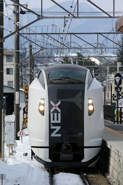 E259系 NEX 富士急行 富士山駅