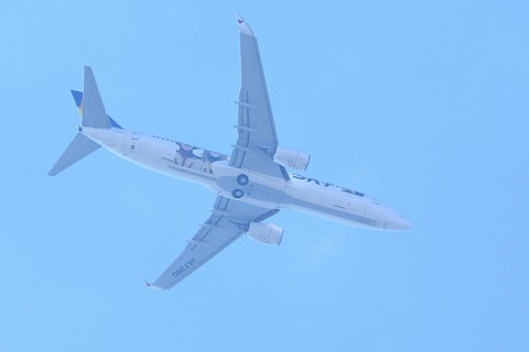 JA73NG B737-800 ヤマトジェット RJTK 上空通過