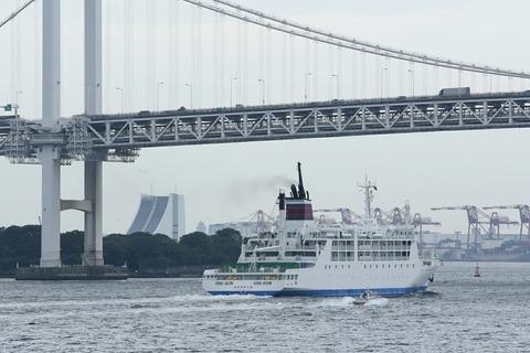 小笠原海運 新おがさわら丸 竹芝桟橋出航 レインボーブリッジ