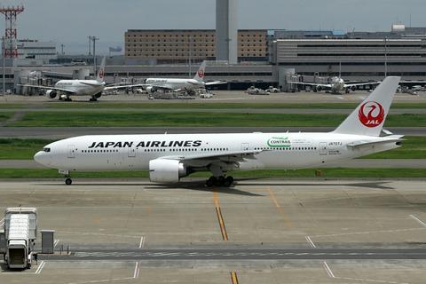 JA707J B777-200 JAL CONTRAIL RJTT