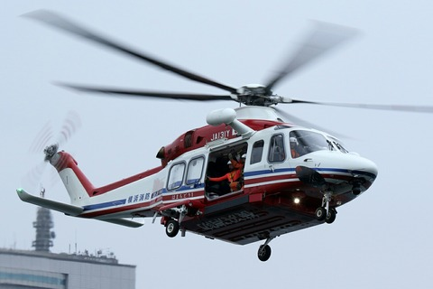 JA131Y AW139 横浜消防出初式 航空救助訓練 横浜大桟橋