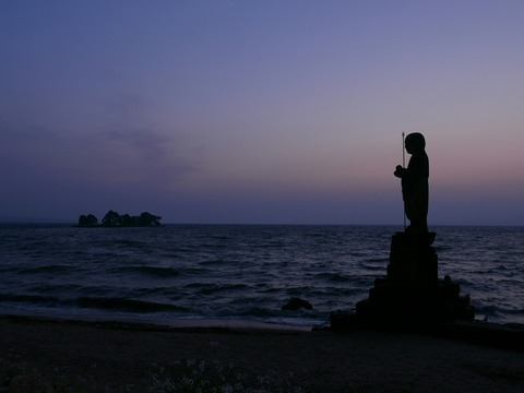 夕景 袖師地蔵 嫁ケ島 宍道湖