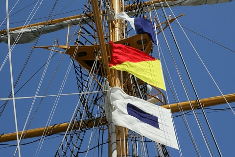 信号旗 帆船みらいへ 帆船体験航海 横浜トールシップクルーズ