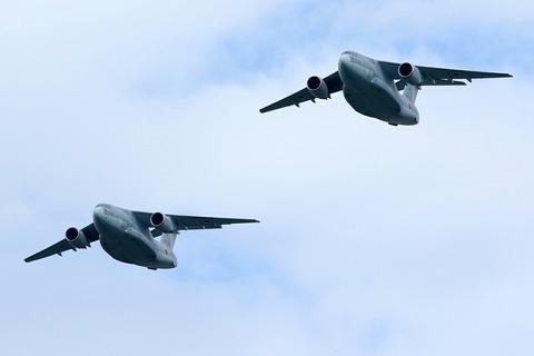 C-2 自衛隊記念日観閲式 観閲飛行 彩湖・道満グリーンパーク