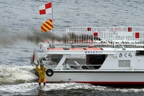 水の消防ページェント 水難救助訓練展示 東京水辺ライン さくら