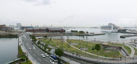 パノラマ撮影 横浜港 三塔の日 横浜税関本関庁舎 一般公開