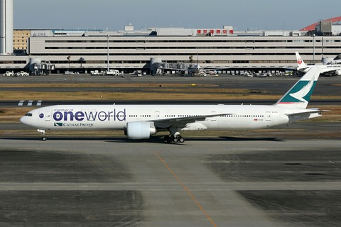 B-KPL B777-300 CPA one world RJTT