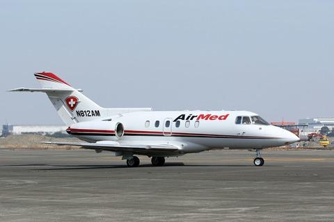 N812AM Hawker800 AirMed RJTT