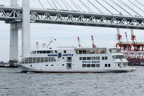 マリーンシャトル 洋上見学クルーズ ペガサス ベイブリッジ