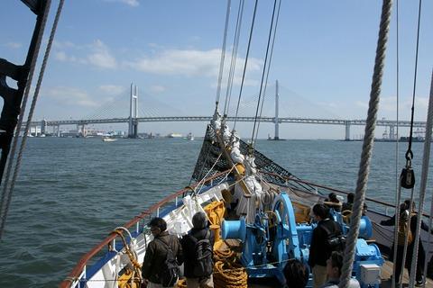 帆船みらいへ 帆船体験航海 横浜トールシップクルーズ ベイブリッジ