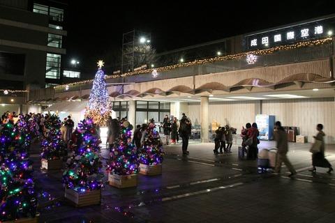 クリスマスフェスティバル2017 クリスマスツリー点灯式 成田空港