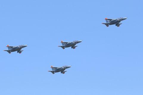 T-4 飛行展示 アロー隊形 入間航空祭2017 航空自衛隊 入間基地