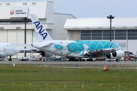JA382A A380-800 ANA FLYING HONU RJAA
