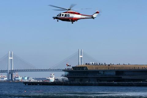 JA131Y AW139 横浜消防出初式 航空救助訓練