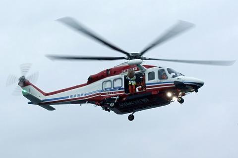 JA131Y AW139 横浜消防出初式 横浜大桟橋