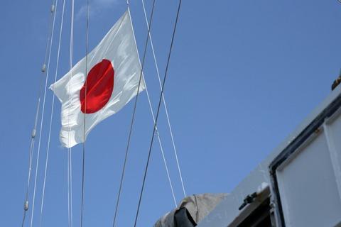 日章旗 帆船みらいへ 帆船体験航海 横浜トールシップクルーズ