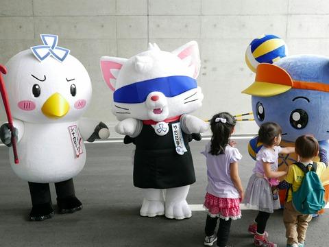 品川区3競技応援キャラクター 東京港トンネル開通記念イベント