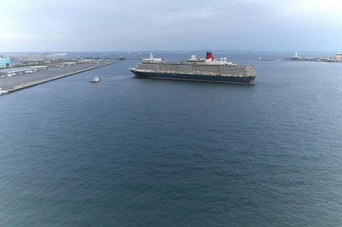 クイーン・エリザベス MS Queen Elizabeth 大黒埠頭 スカイウォーク