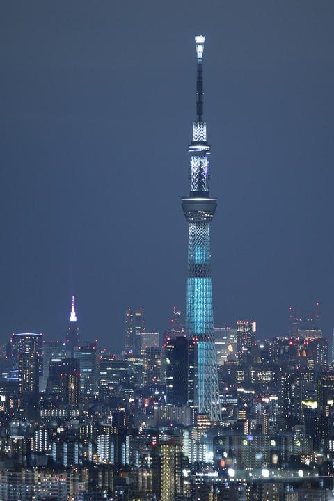 夜景 東京スカイツリー 魔晄 アイ・リンクタウン展望施設