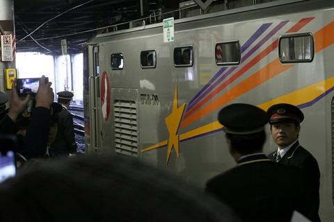 寝台特急カシオペア EF510-510 上野駅発ラストラン 上野駅