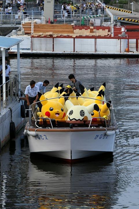 ピカチュウ大量発生チュウ! ピカチュウ船上グリーティング 横浜
