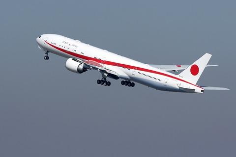 80-1112 B777-300 日本国政府専用機 RJTT 訓練飛行