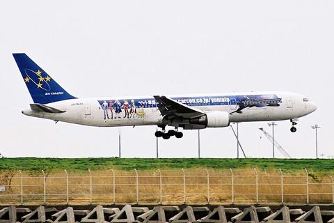 JA767A B767-300 SKY ヤマト車検 RJTT フィルム画像