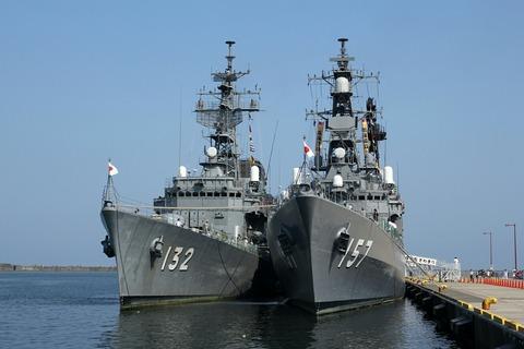 DD-132 護衛艦あさゆき DD-157 護衛艦さわぎり 艦艇公開in大洗