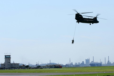 訓練展示 第45回 木更津航空祭 陸上自衛隊 木更津駐屯地