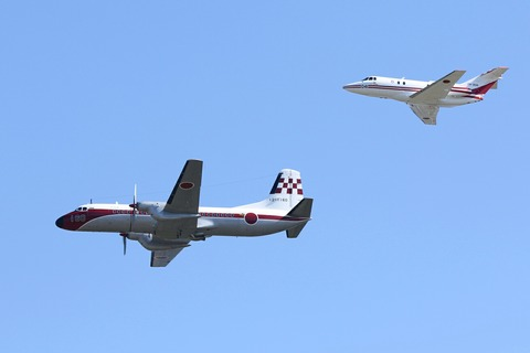YS-11FC U-125 飛行展示 入間航空祭2017 航空自衛隊 入間基地