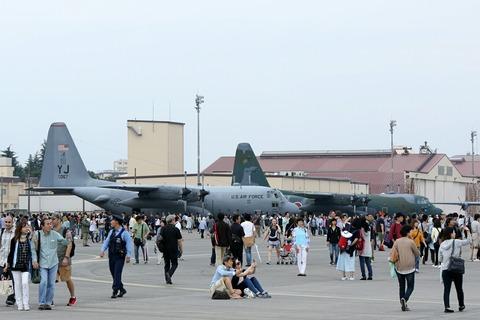 地上展示機 C-130 アメリカ空軍 航空自衛隊 RJTY 横田基地日米友好祭