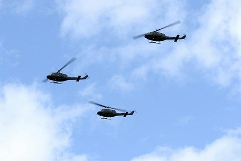 UH-1 自衛隊記念日観閲式 観閲飛行 彩湖・道満グリーンパーク