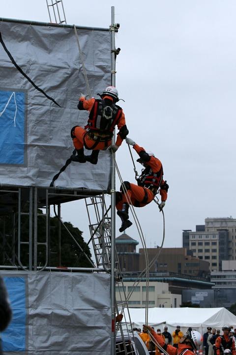 横浜消防出初式 消防総合訓練