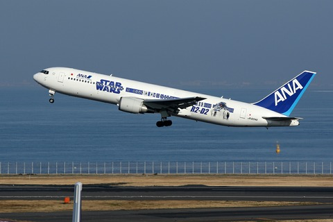 JA604A B767-300 ANA STAR WARS ANA JET RJTT