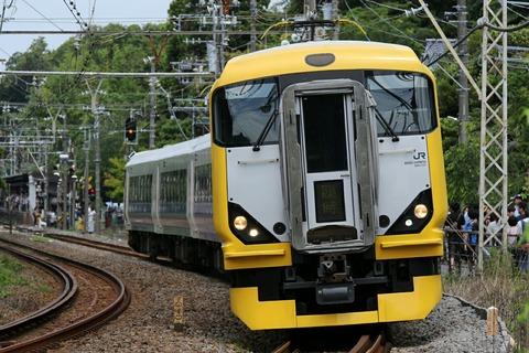 JR東日本 E257系 快速 鎌倉あじさい号 北鎌倉駅付近