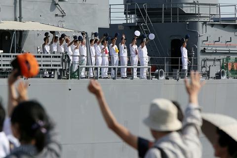 DDG-171 護衛艦 はたかぜ 出航 第70回 東京みなと祭 晴海埠頭