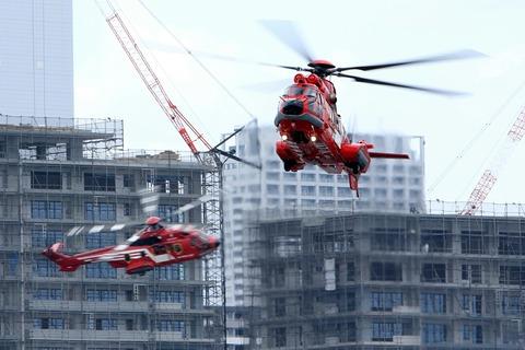 第71回 東京みなと祭 水の消防ページェント 消防ヘリコプター