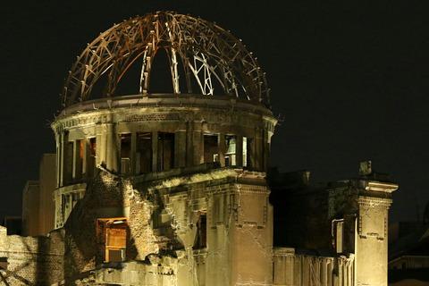 ライトアップ 世界遺産 原爆ドーム