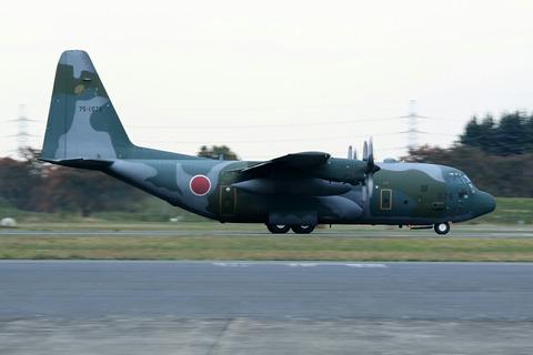 75-1075 C-130 帰投 入間航空祭2018 航空自衛隊 入間基地