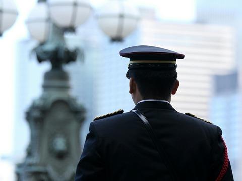 皇居 新年一般参賀 皇宮警察