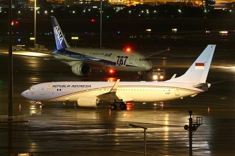 A-001 B737-800BBJ REPUBLIK INDONESIA RJTT V.I.P.Flight