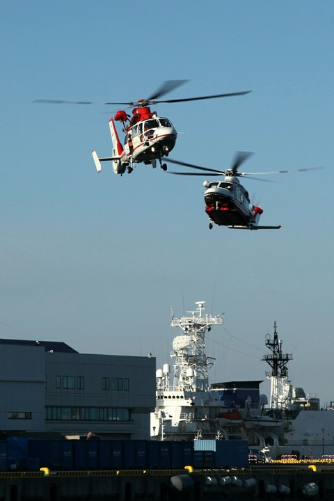 ヘリコプター 横浜消防出初式